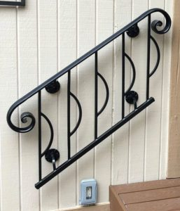 Custom Painted Metal Handrail
