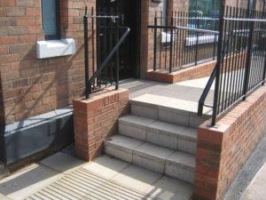 Steps and Metal Railings