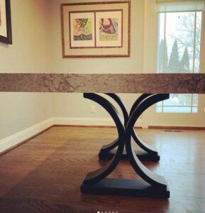 Stone table legs